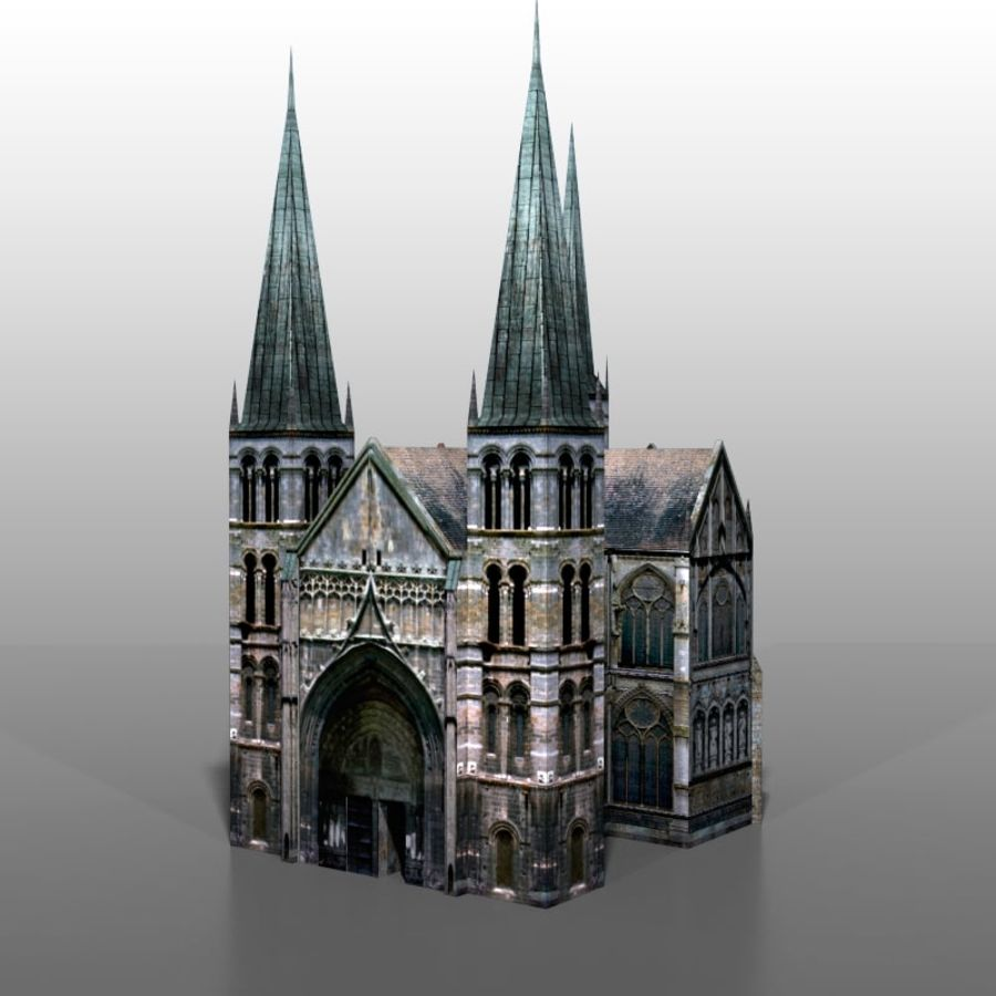 Church v2 royalty-free 3d model - Preview no. 6