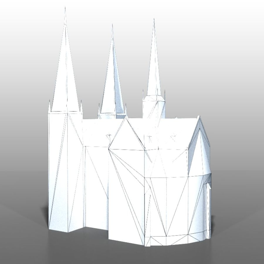 Church v2 royalty-free 3d model - Preview no. 11