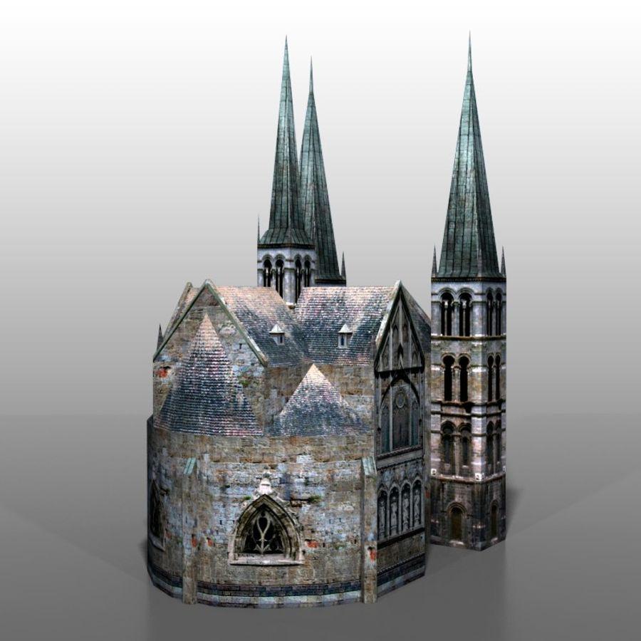 Church v2 royalty-free 3d model - Preview no. 3