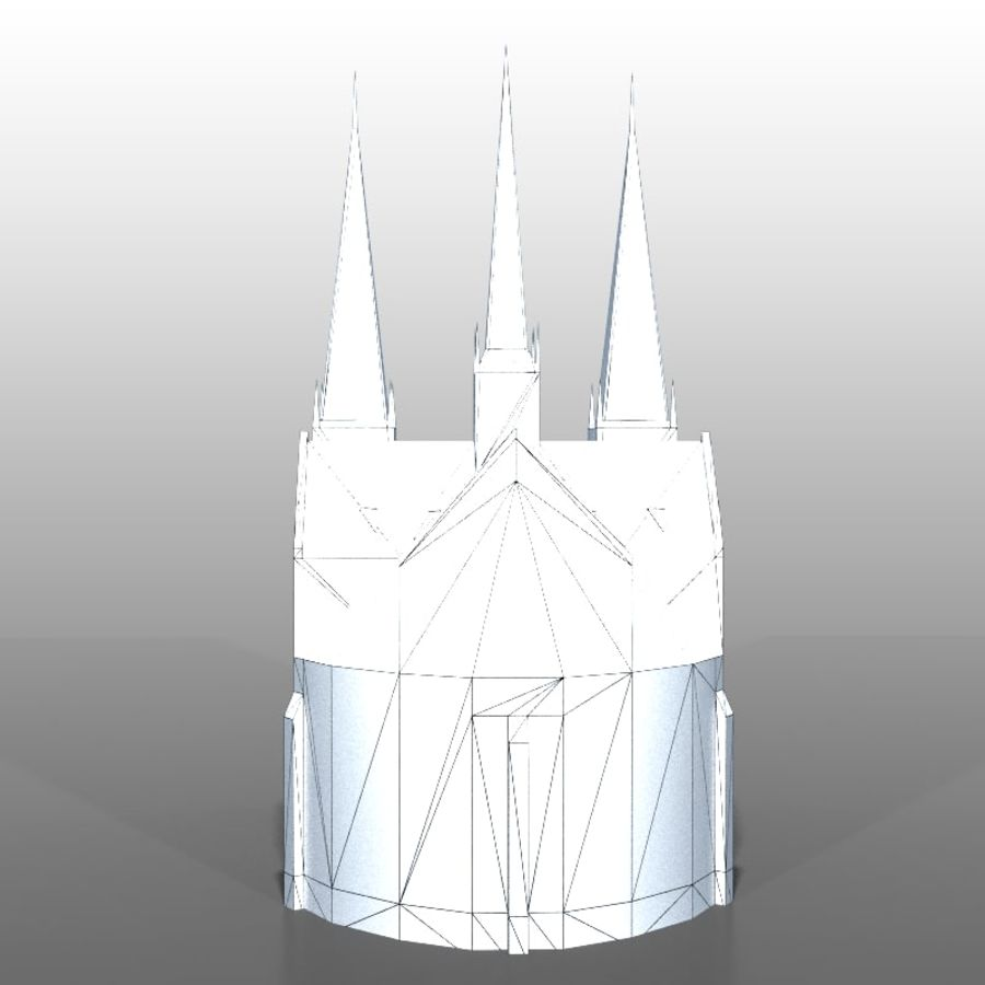 Church v2 royalty-free 3d model - Preview no. 10