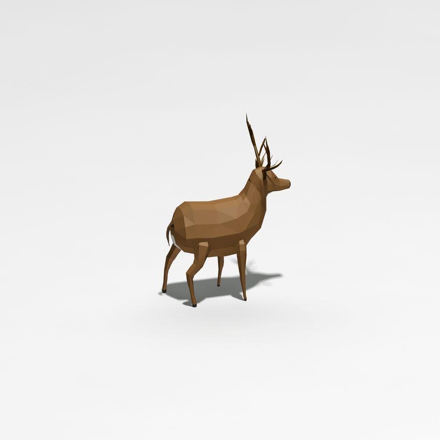 Veado poli baixo dos desenhos animados royalty-free 3d model - Preview no. 6