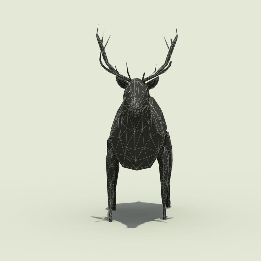 Veado poli baixo dos desenhos animados royalty-free 3d model - Preview no. 9