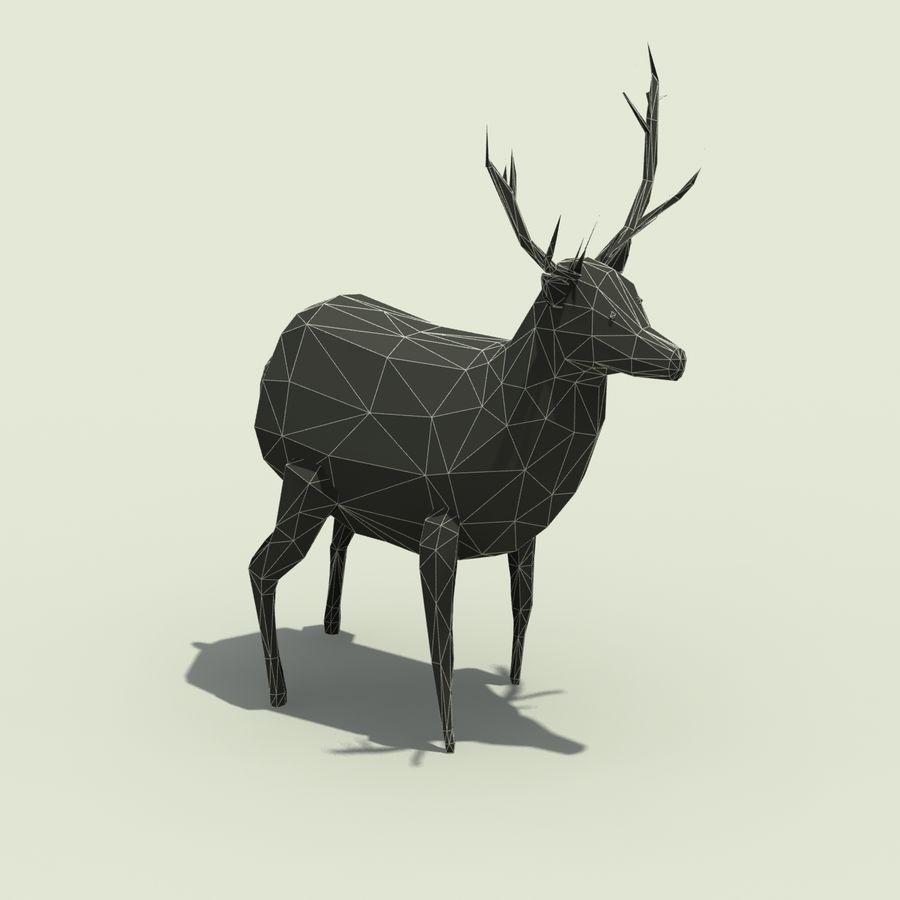 Veado poli baixo dos desenhos animados royalty-free 3d model - Preview no. 8