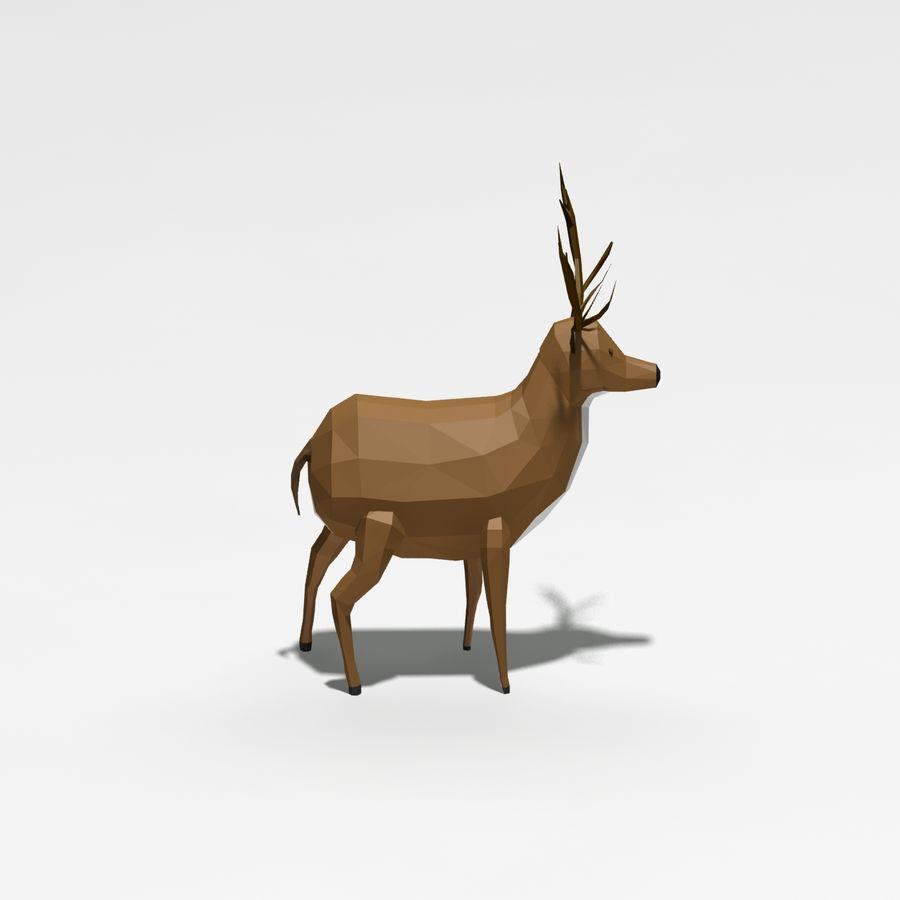 Veado poli baixo dos desenhos animados royalty-free 3d model - Preview no. 1