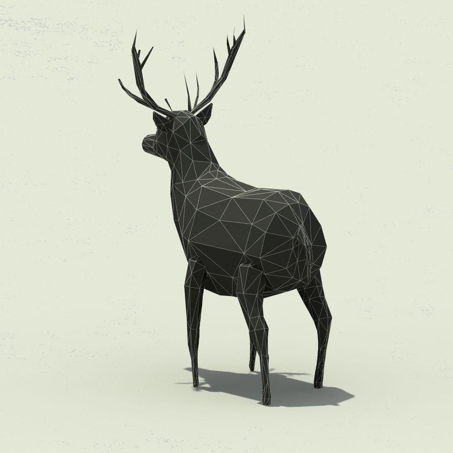 Veado poli baixo dos desenhos animados royalty-free 3d model - Preview no. 10
