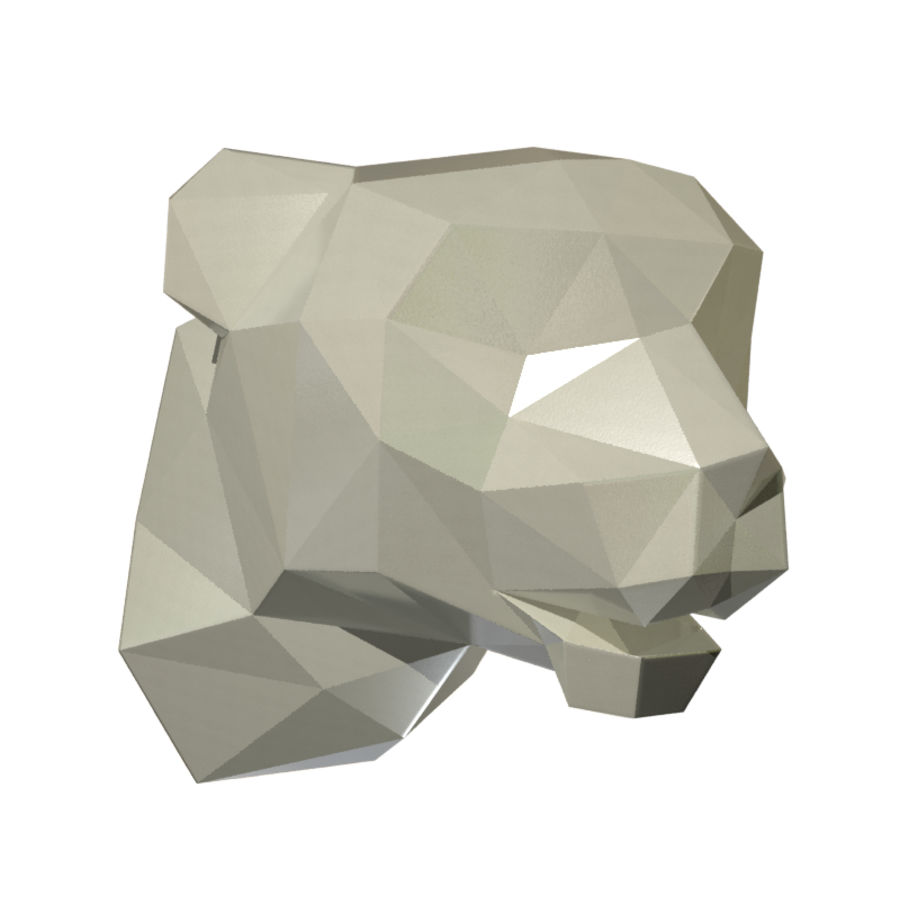 Tiger Head (low poly) 3D Model $6 -  unknown  obj  fbx  dwg  3ds