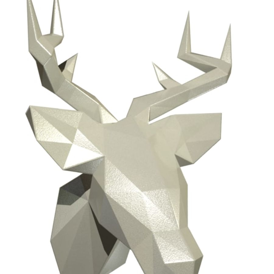 Deer Head (low poly) royalty-free 3d model - Preview no. 1