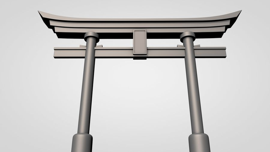 Torii Gate royalty-free 3d model - Preview no. 8