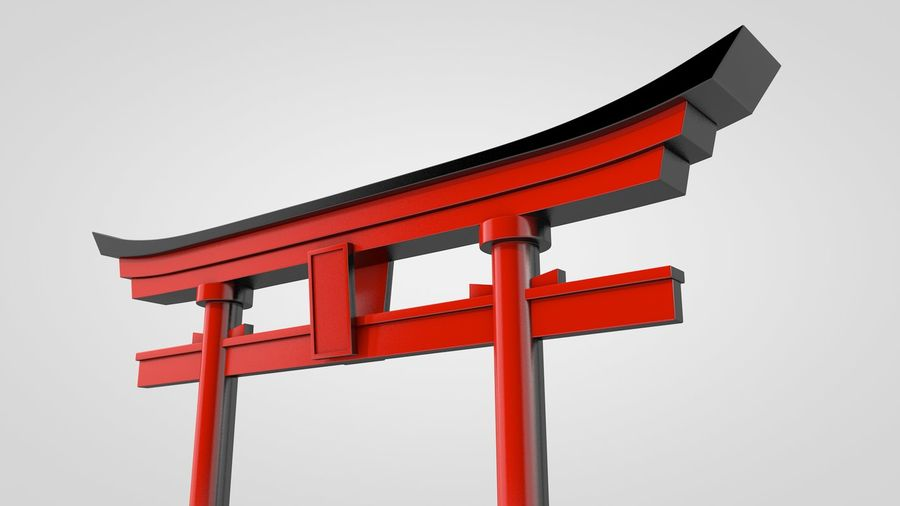 Torii Gate royalty-free 3d model - Preview no. 5