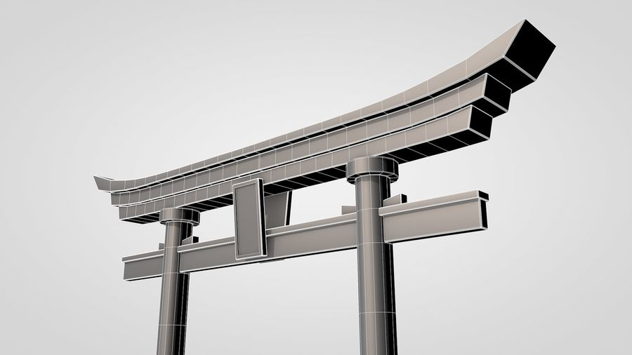 Torii Gate royalty-free 3d model - Preview no. 6