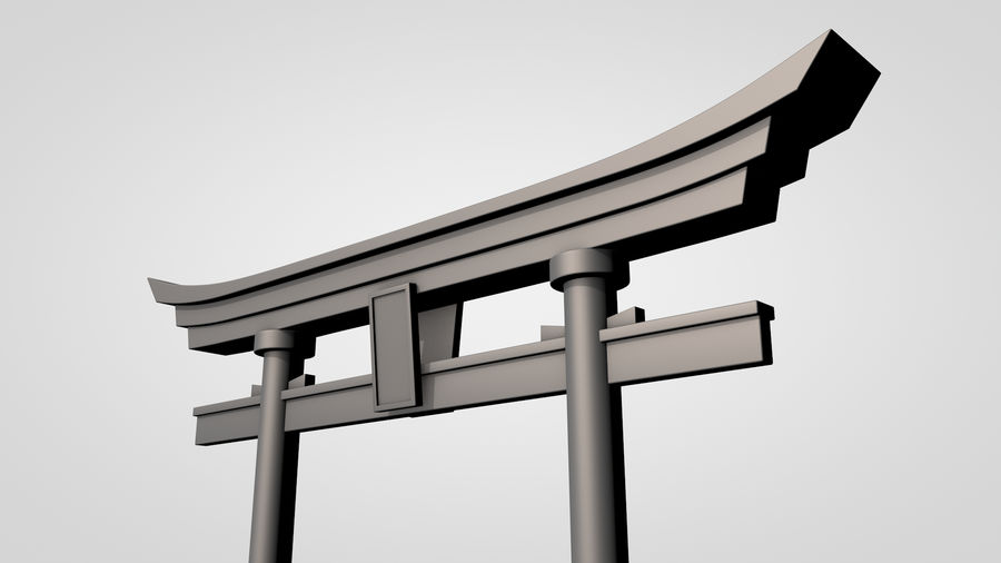 Torii Gate royalty-free 3d model - Preview no. 7
