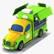 卡通食品卡车 3d model