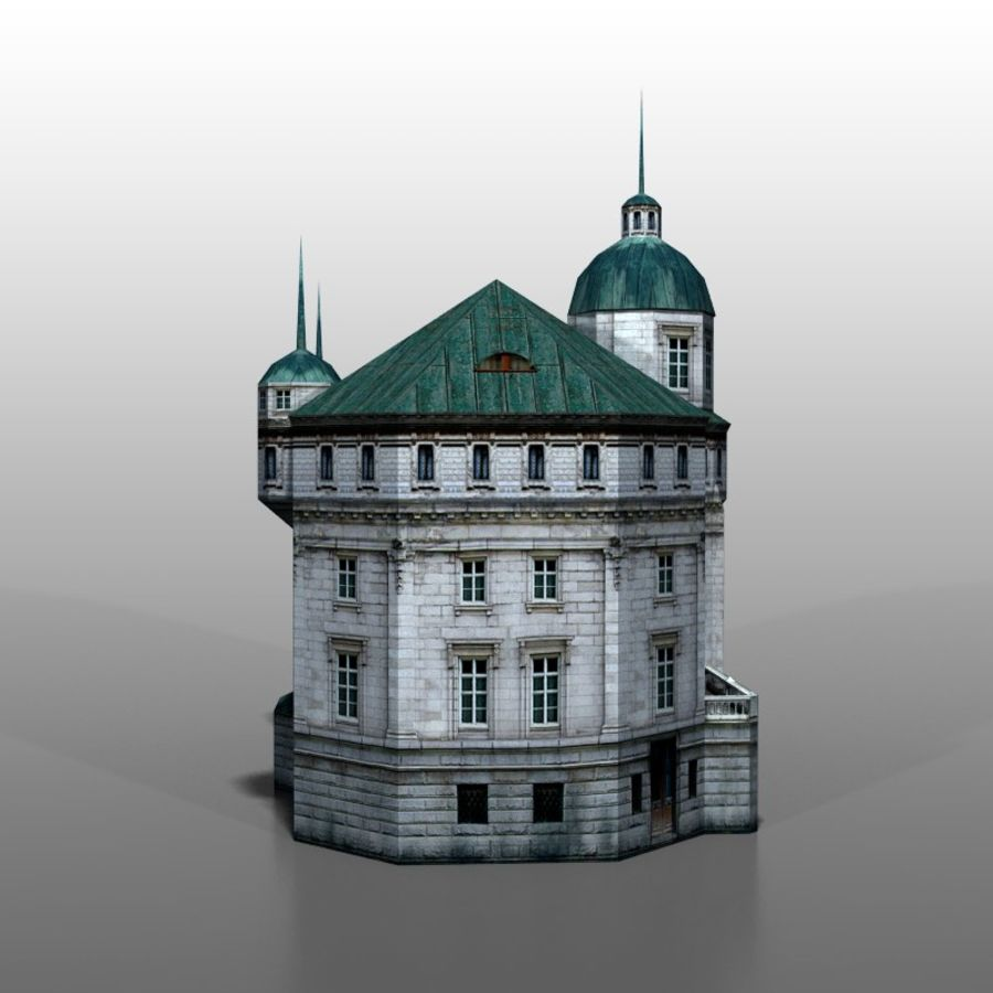 Polish house v2 royalty-free 3d model - Preview no. 5