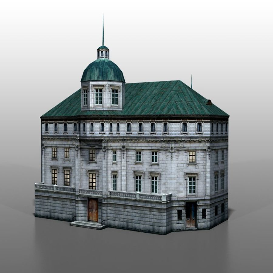 Polish house v2 royalty-free 3d model - Preview no. 1