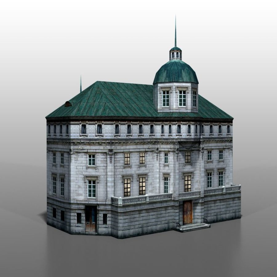 Polish house v2 royalty-free 3d model - Preview no. 6