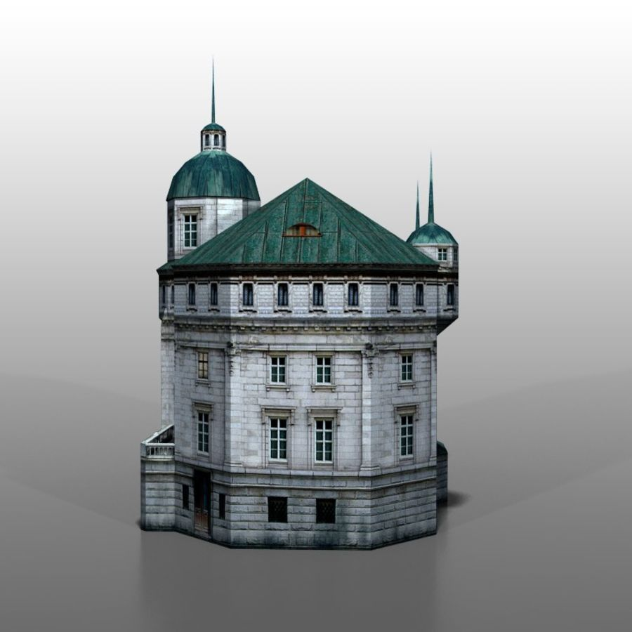 Polish house v2 royalty-free 3d model - Preview no. 2