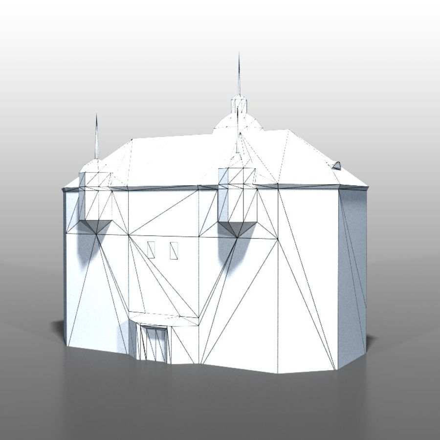Polish house v2 royalty-free 3d model - Preview no. 10