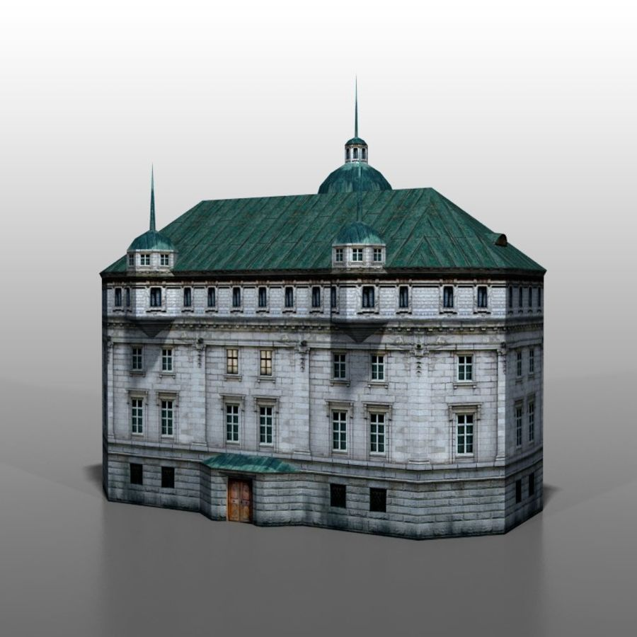 Polish house v2 royalty-free 3d model - Preview no. 4