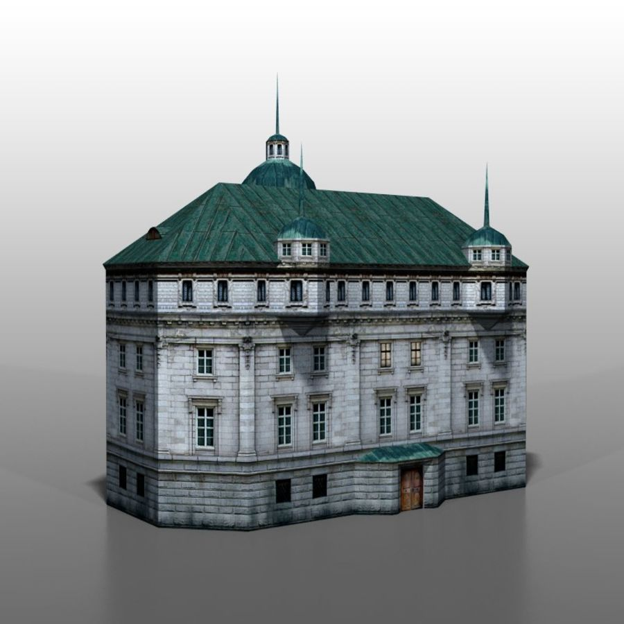 Polish house v2 royalty-free 3d model - Preview no. 3
