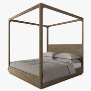 MARTENS FOUR-POSTER CANOPY BED 3d model