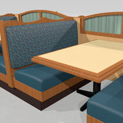 Restaurant Booths and Tables: Modular Set 3d model