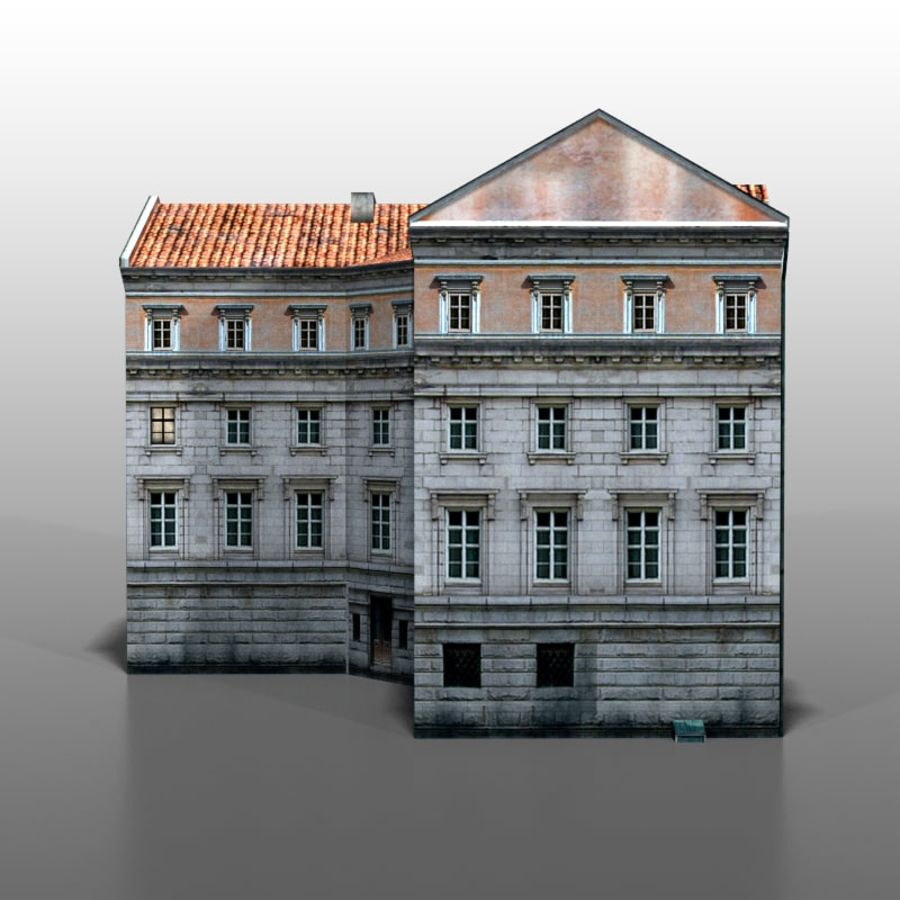 Polish house v9 royalty-free 3d model - Preview no. 6
