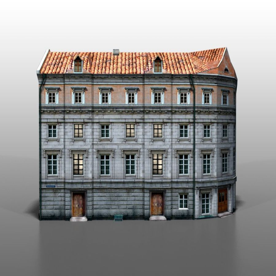 Polish house v9 royalty-free 3d model - Preview no. 1