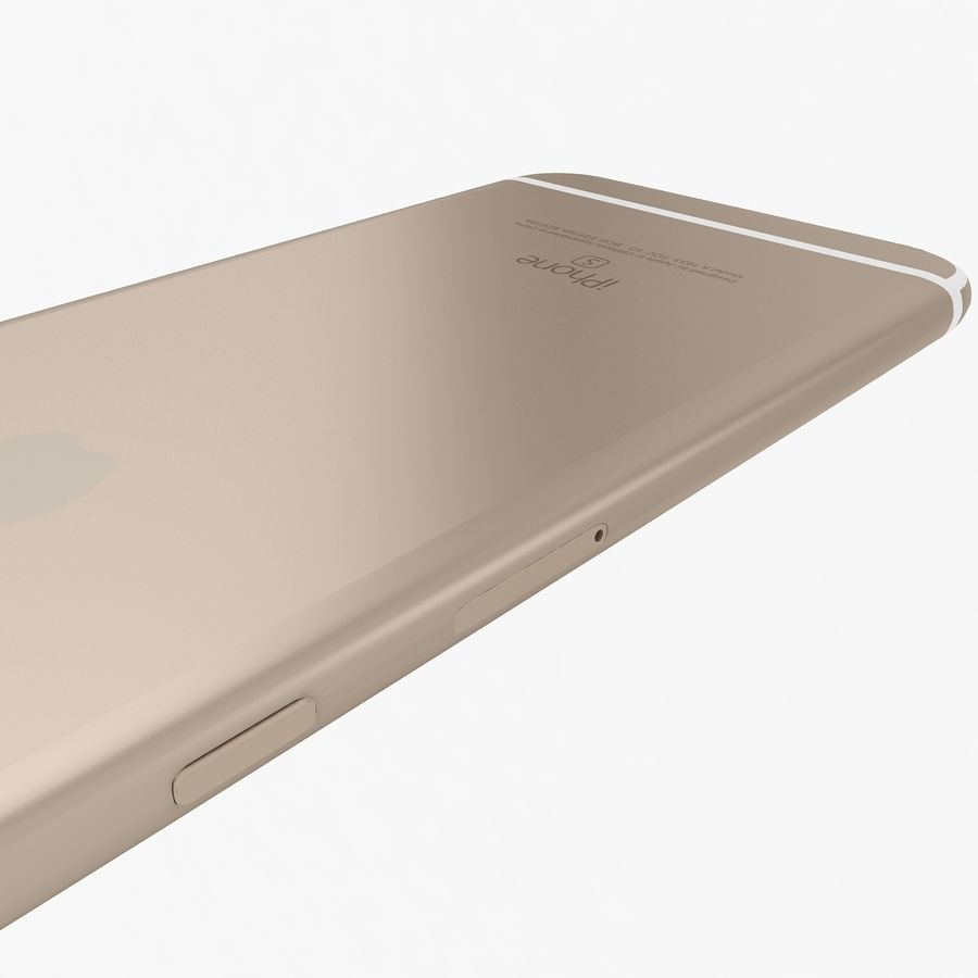 Apple iPhone 6s Gold royalty-free 3d model - Preview no. 11