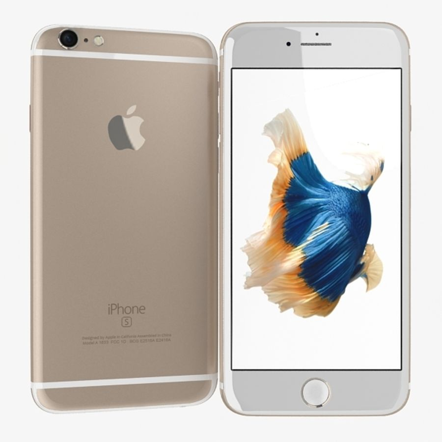 Apple iPhone 6s Gold royalty-free 3d model - Preview no. 1