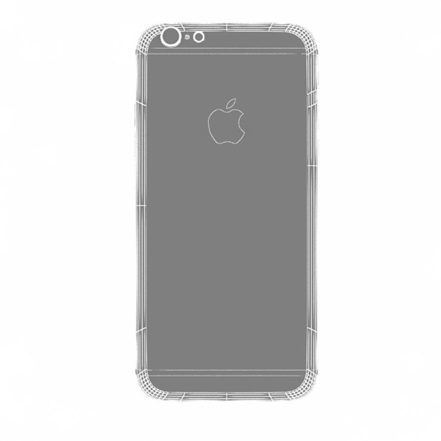 Apple iPhone 6s Gold royalty-free 3d model - Preview no. 13