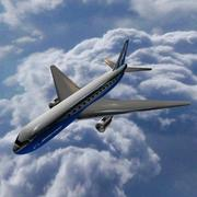 Flying boeing 767 3d model