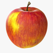 Apple Realistic Red Common (2) 3d model