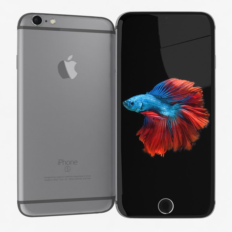 Apple iPhone 6s Flagship Smartphone 2015 royalty-free 3d model - Preview no. 5