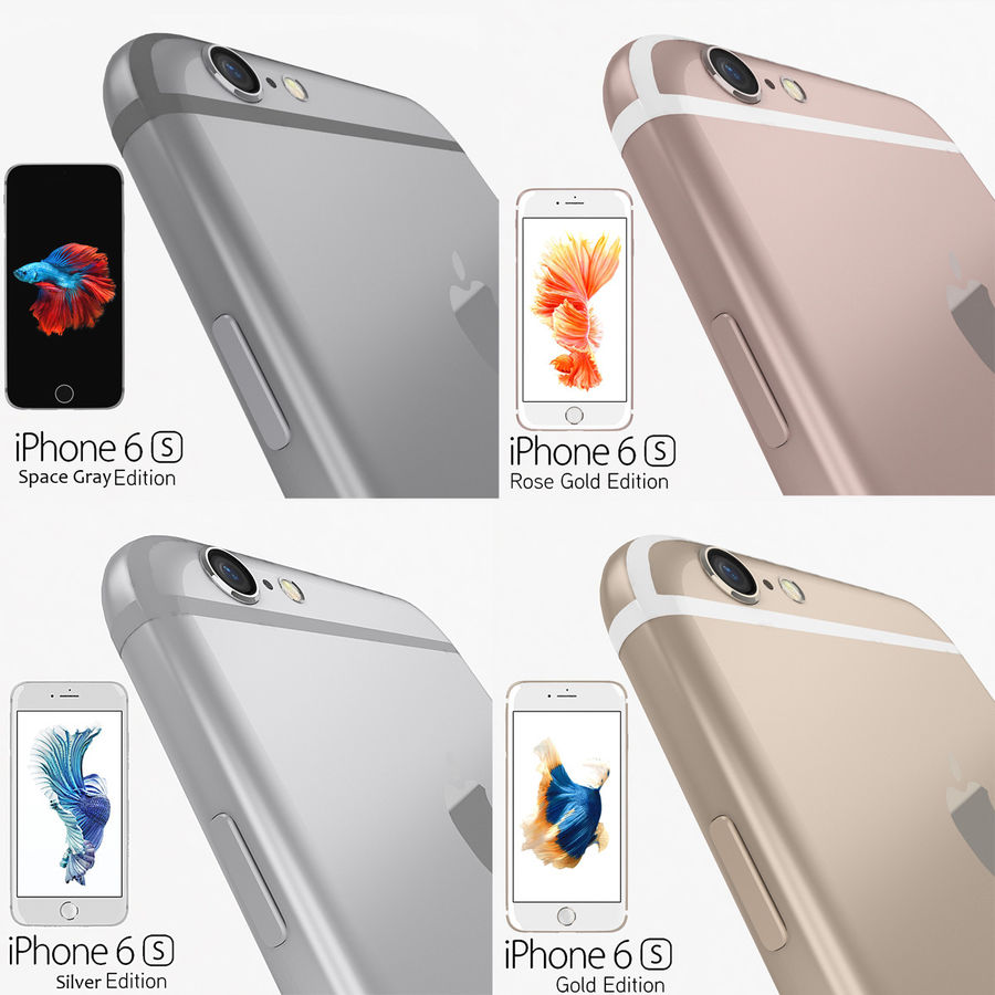 Apple iPhone 6s Flagship Smartphone 2015 royalty-free 3d model - Preview no. 1