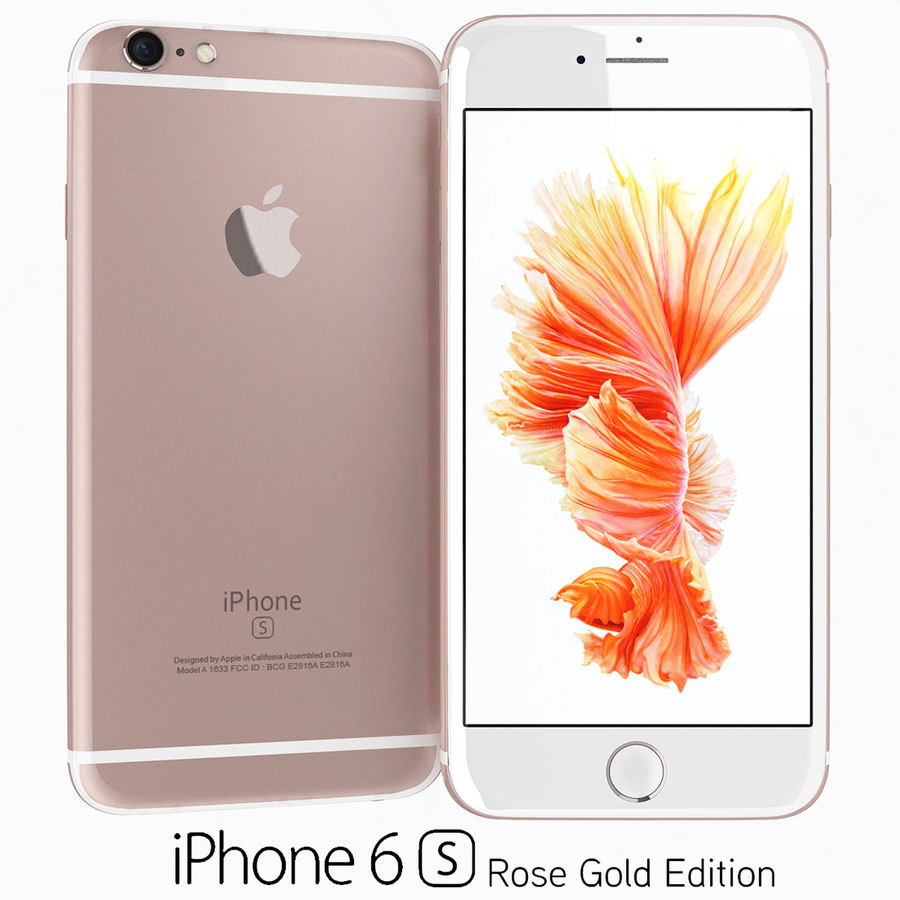 Apple iPhone 6s Flagship Smartphone 2015 royalty-free 3d model - Preview no. 3