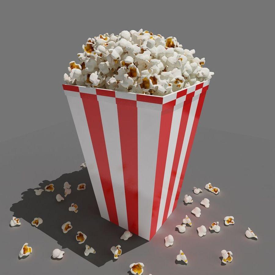 Popcorn_3dsmax royalty-free modelo 3d - Preview no. 2