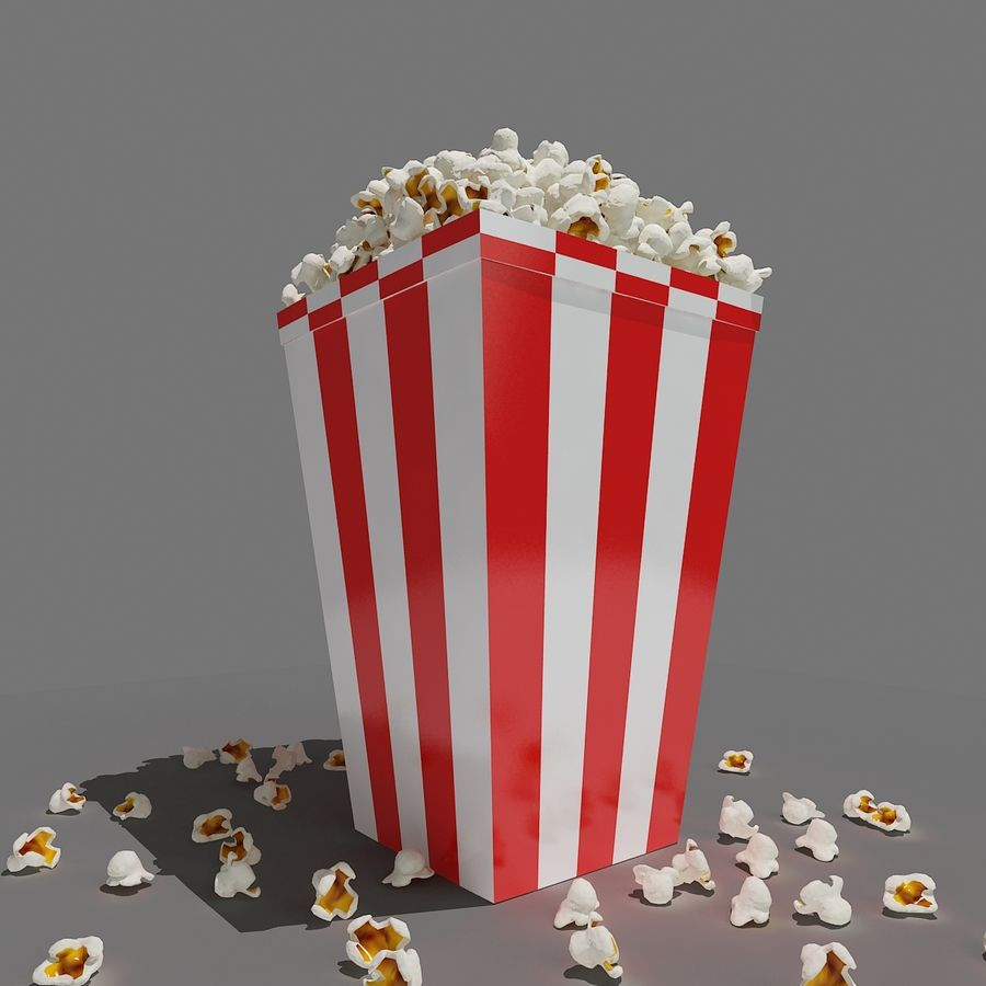 Popcorn_3dsmax royalty-free modelo 3d - Preview no. 4