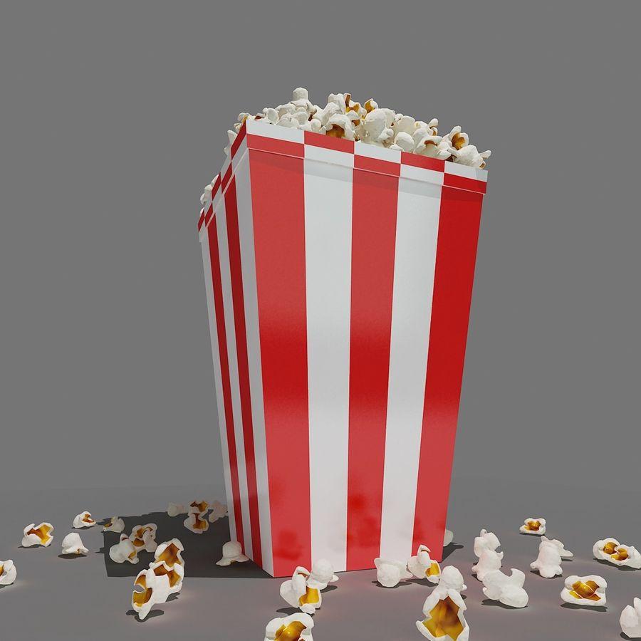 Popcorn_3dsmax royalty-free modelo 3d - Preview no. 5