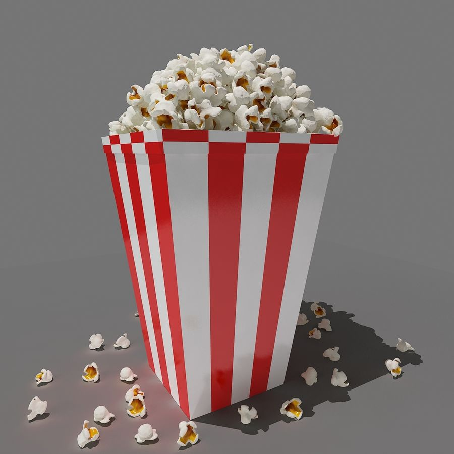 Popcorn_3dsmax royalty-free modelo 3d - Preview no. 6