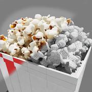 Popcorn_3dsmax modelo 3d