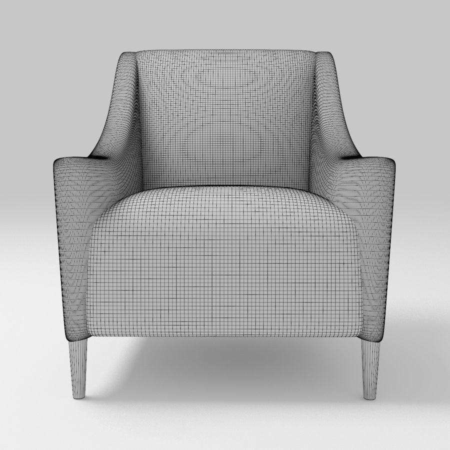 Fotel Marie royalty-free 3d model - Preview no. 10