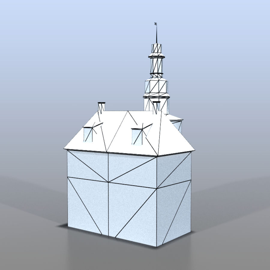 German house v3 royalty-free 3d model - Preview no. 11