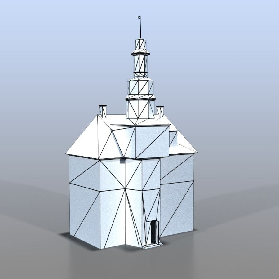 German house v3 royalty-free 3d model - Preview no. 7