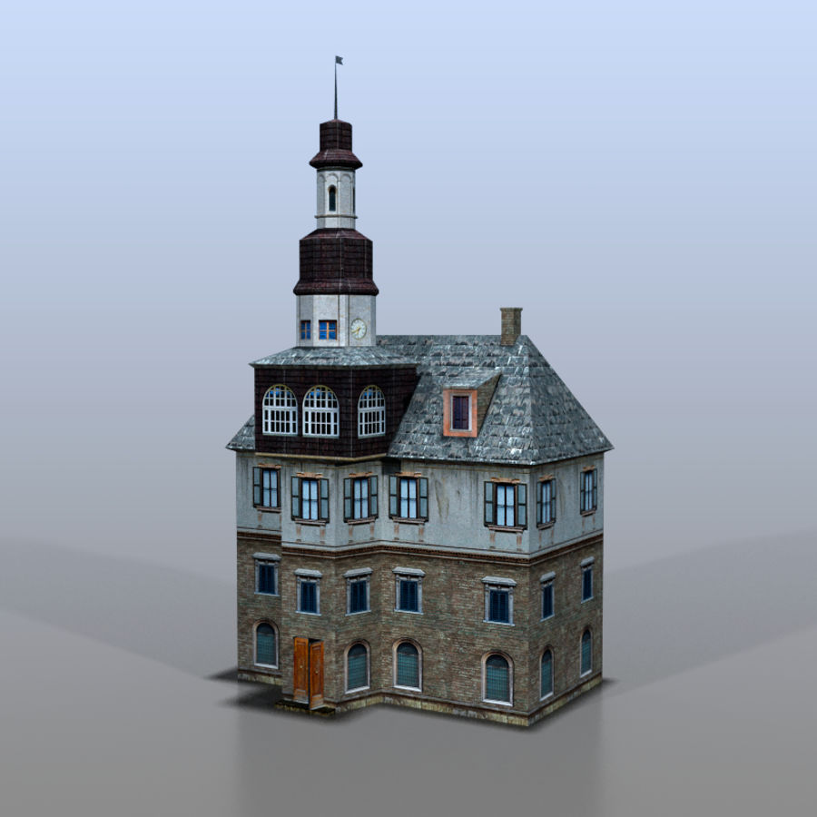 German house v3 royalty-free 3d model - Preview no. 2