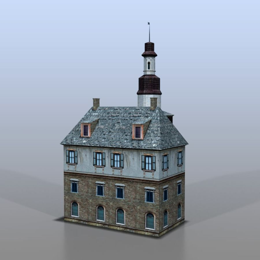 German house v3 royalty-free 3d model - Preview no. 5