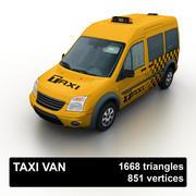 Low Poly Taxi Van 3d model