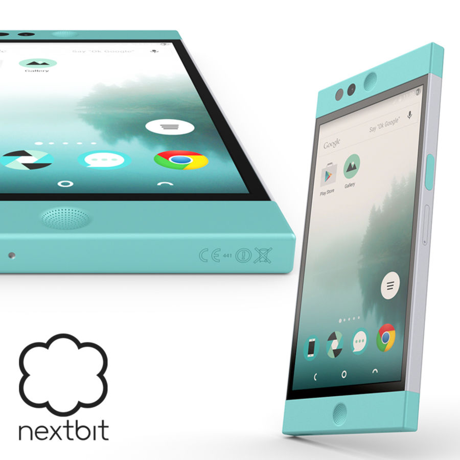 Nextbit Robin-smartphone (+ NURBS) royalty-free 3d model - Preview no. 1