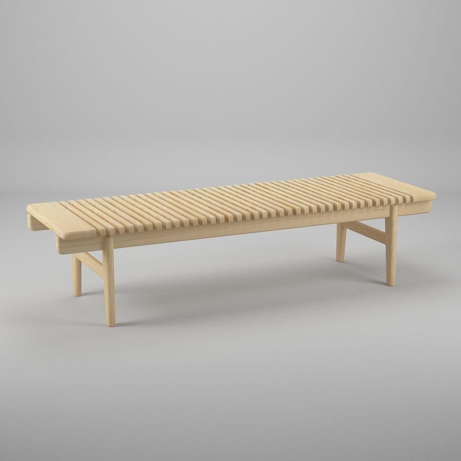 Барная скамья PP589 - Ханс Дж Вегнер royalty-free 3d model - Preview no. 2