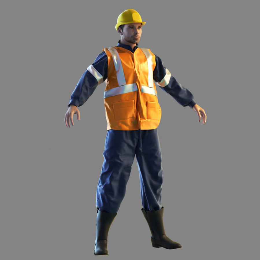 Worker royalty-free 3d model - Preview no. 1