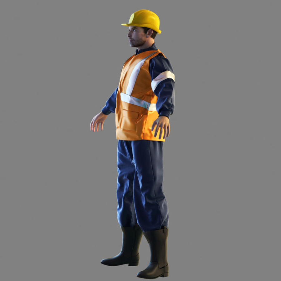 Worker royalty-free 3d model - Preview no. 4